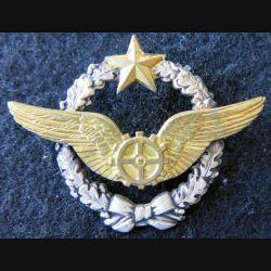 ARMÉE AIR : insigne métallique brevet de mécanicien volant Drago Paris 43 mm