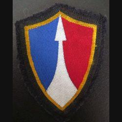 2° CA : insigne tissu du 2° Corps d'armée sans chiffre sur crochets