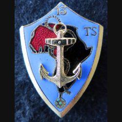 13° RTS : insigne du 13° régiment de tirailleurs sénégalais RTS Drago H. 650 en émail grosse ancre