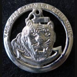 COMMANDO 24 : insigne métallique du commando 24 adjudant Vandenberghe les tigres noirs retirage