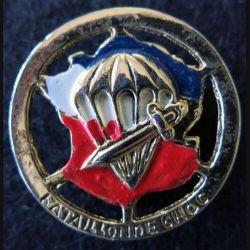 1° BPC : insigne métallique du 1° bataillon de choc surmoulage en métal doré peint