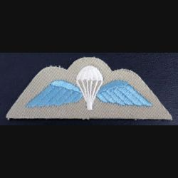 GB : insigne de brevet parachutiste anglais en tissu de largeur 10 cm