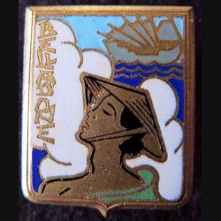 BELLADONE : insigne du Dragueur Belladone de fabrication Drago Beranger déposé en émail