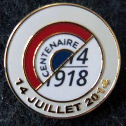 FRANCE : pin's du centenaire de la guerre de 1914-1918 de fabrication GLF