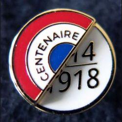 FRANCE : pin's du centenaire de la guerre de 1914-1918 de fabrication GLF 13 mm en boite