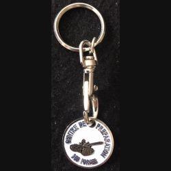 CPF MAILLY : porte clefs jeton de caddie du centre de préparation des forces de Mailly