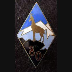 80° RIA : 80° régiment d'infanterie Alpine fabrication ABPD éclat d'émail