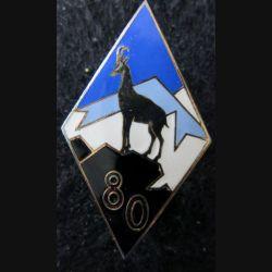 80° RIA : 80° régiment d'infanterie Alpine fabrication ABP (retirage) en émail