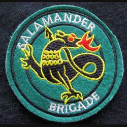 SALAMANDER BRIGADE : Insigne tissu de la Salamander Brigade 83 mm