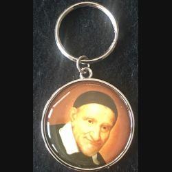 PORTE CLES : porte clés de la fondation Saint Vincent de Paul diamètre 40 mm