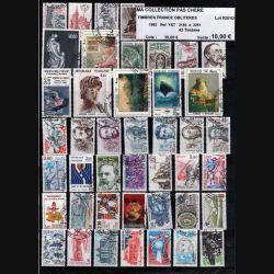 FRANCE : planche de 43 timbres oblitérés 1982 réf : Y&T N° 2193 à 2251 (JFB)