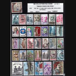FRANCE : planche de 44 timbres oblitérés 1978 réf : Y & T N° 1982 à 2027 (JFB)