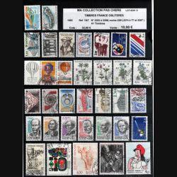 FRANCE : planche de 41 timbres oblitérés 1983 réf : Y&T N° 2252 à 2298 (JFB)