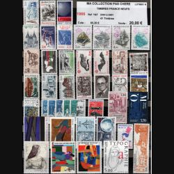 FRANCE : planche de 41 timbres neufs 1986 réf : Y&T N° 2393 à 2451 (JFB)
