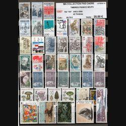 FRANCE : planche de 42 timbres neufs 1987 réf : Y&T N° 2452 à 2500 (JFB)