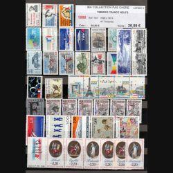 FRANCE : planche de 41 timbres neufs 1989 réf : Y&T N° 2560 à 2614 (JFB)
