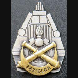 363° CLRA :  Insigne métallique de la 363° compagnie lourde de réparation automobile Drago Paris G. 1770