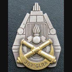 363° CLRA :  Insigne métallique de la 363° compagnie lourde de réparation automobile Drago Paris G. 1770 attaches coupées