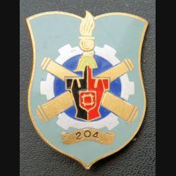 204° BM : insigne métallique du 204° bataillon du Matériel de fabrication Drago Paris G. 2162