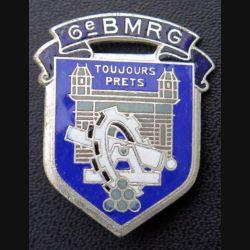 6° BMRG : insigne métallique du 6° bataillon du Matériel de réserve générale  Drago Paris H. 788 en émail