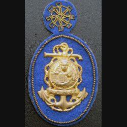 ACNIL MARINE ITALIENNE : insigne ACNIL de la marine italienne sur écusson cuir et canetille