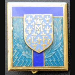 ECOLE TRANS : insigne de l'école des transmissions de Montargis de fabrication Drago Paris H. 738