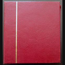 Classeur rouge NUMIS pour pièces avec 9 feuilles de rangement de diverses tailles USAGÉ (C205)