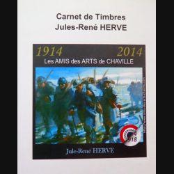FRANCE : carnet de 4 timbres de Jules René Hervé centenaire 1914 2014
