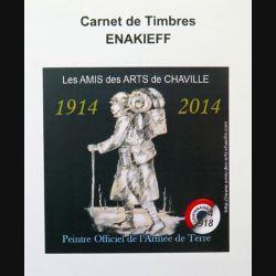 FRANCE : carnet de 4 timbres de Enakrieff Peintre officiel armée de terre centenaire 1914 2014