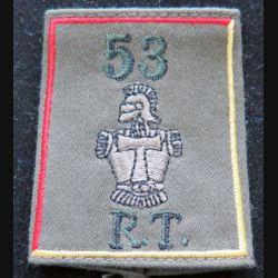 53° RT : fourreau d'épaule du 53° régiment de transmissions (compagnie rouge et jaune)