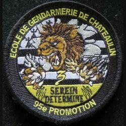 Insigne patch écusson tissu de la 3° compagnie 95° promo gendarmerie de Chateaulin