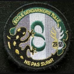 Insigne patch écusson tissu de la 8° Cie 20/18 promotion école gendarmerie de Tulle