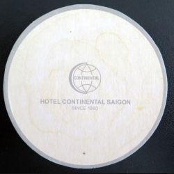 DESSOUS DE VERRE A BIÈRE : Hôtel Continental Saïgon Indochine de 9,2 cm de diamètre