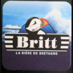 DESSOUS DE VERRE A BIÈRE : Britt bière de bretagne de largeur 9 cm
