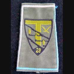 28° RT : fourreau d'épaule du 28° régiment de transmissions (compagnie gris clair et bleu clair)