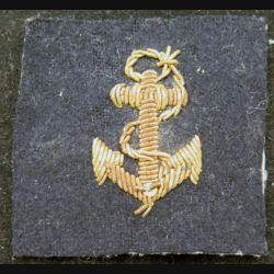 ancre de marine en cannetille fils d'or hauteur de l'ancre 3 cm