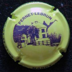 Capsule Muselet de bouteille de champagne Pernet-Lebrun jaune (L3)