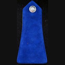 épaulette de policier bleue