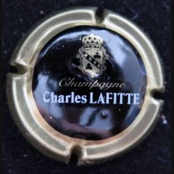 Capsule Muselet de bouteille de champagne Charles Lafitte contour or (L4)