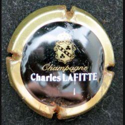 Capsule Muselet de bouteille de champagne Charles Lafitte contour or état moyen (L4)
