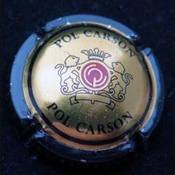 Capsule Muselet de bouteille de champagne Pol Carson Or contour noir (L4)