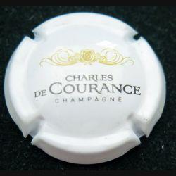 Capsule Muselet de bouteille de champagne Charles de Courance blanc or et noir (L4)