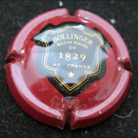 Capsule Muselet de bouteille de champagne Bollinger Bordeaux (L4)