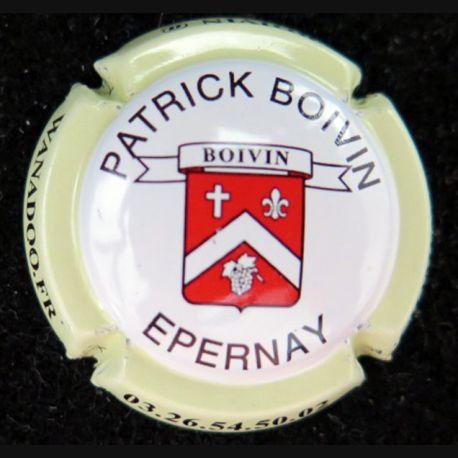 Capsule Muselet de bouteille de champagne Patrick Boivin crème (L4)