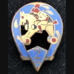 2° RCA : 2° Régiment de chasseurs d'Afrique cheval à roulettes Drago Béranger émail