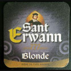 DESSOUS DE VERRE A BIÈRE : Sant Erwann blonde de largeur 9 cm