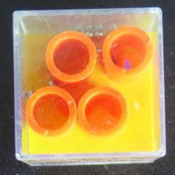 jeu d'adresse 2 dans cube plastique 4 x 4 x 4 cm (C206)