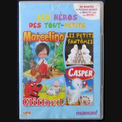DVD :  Les Héros des tout-petits : Marcelino, les petits fantômes, Casper,Clifford, dessin animé - F001