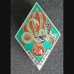 4° REI : 2° bataillon du 4° régiment étranger d'infanterie nul ne crains de fabrication Drago R 74
