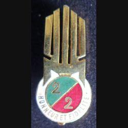 2° REI : 2° bataillon du 2° étranger d'infanterie en Syrie AB émail retirage non marqué